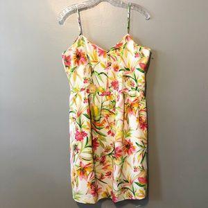 J.Crew Tropical Floral Print Midi Dress